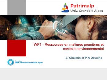 WP1- Ressources en matières premières et contextualisations